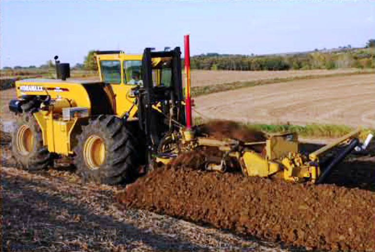 large farm drainage trencher